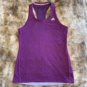Adidas climachill purple running tank top